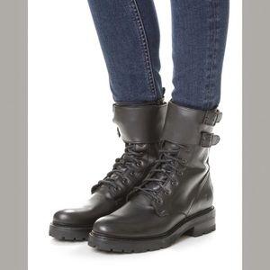 Frye Julie Shield Leather Combat Moto Boot
